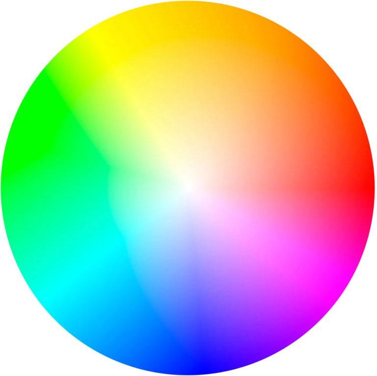 彩度を反映した色相環